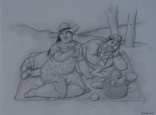 פרננדו בוטרו (צייר פיקניקים נלהב) הסל והשמיכה