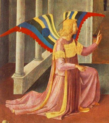 מלאך הבשורה, פרה אנג'ליקו (פרט). עוד על הציור המופלא הזה כאן==.