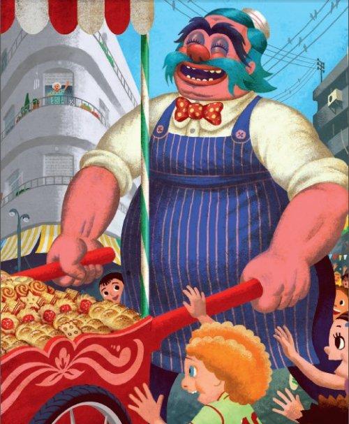 ברמלי המתורבת, האופה, כמוקיון מערבי, כולל האף האדום. דוד פולונסקי, מתוך ברמלי מאת קורניי צ'וקובסקי