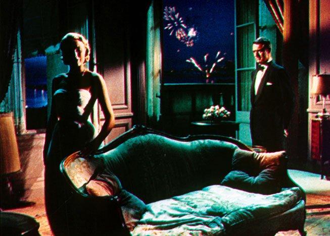קרי גרנט וגרייס קלי, מתוך סרטו של היצ'קוק, To Catch a Thief