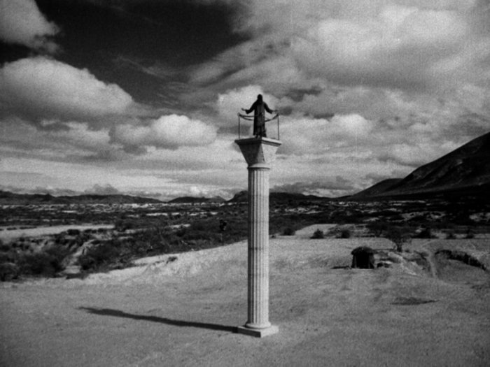 שמעון סטיליטס מתוך סרטו של לואיס בונואל (1965) Simón del desierto