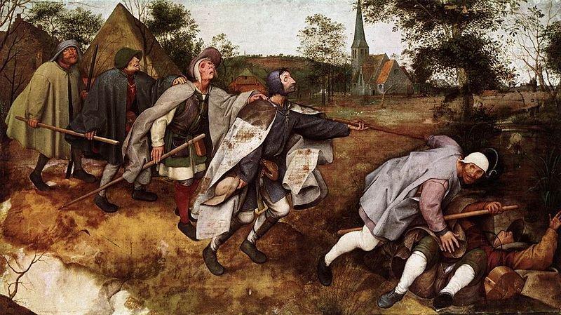 משל העוורים, פיטר ברויגל, המאה ה-16