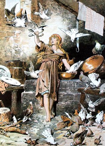 לכלוכית מזמנת את הציפורים, איור, אלכסנדר זיק