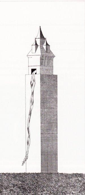 במגדל היה חלון אחד. אייר דיוויד הוקני.