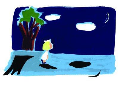 """אורה איתן, """"ואז השקיף הירח מן השמיים אל חנה'לה הקטנה, השקיף ושאל, שאל בלי קול, בלי מילים, רק חנה'לה שמעה - מה לך פה, ילדה? ולמה תבכי?"""" (מתוך שמלת השבת של חנהלה מאת יצחק דמיאל שוויגר, הגרסה האנגלית)"""