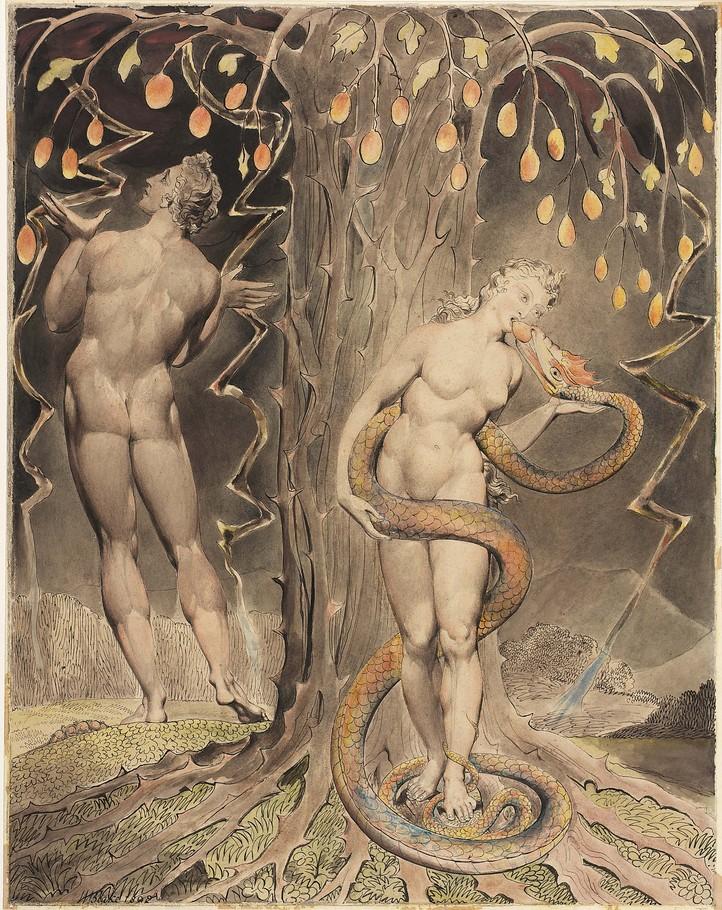 ויליאם בלייק, אדם וחוה 1808 (עוד על פיתוי)