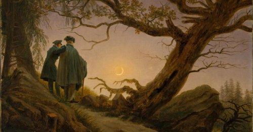 איש ואישה מתבוננים בירח, קספר דוד פרידריך 1830-35