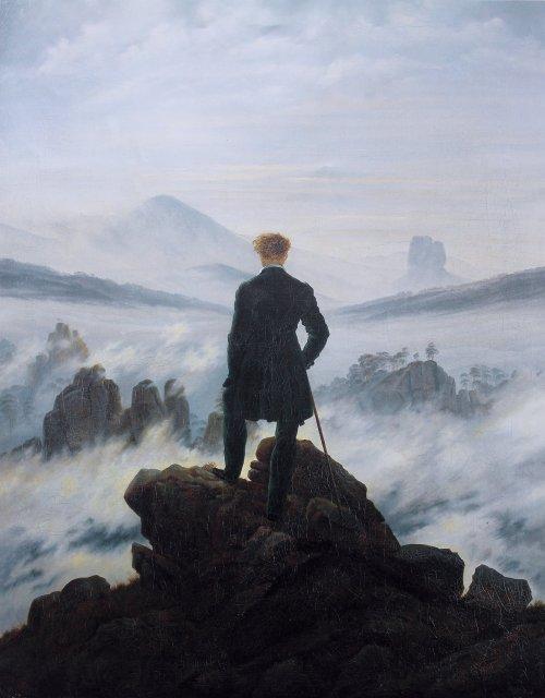 נודד מעל ים ערפל, קספר דוד פרידריך 1818