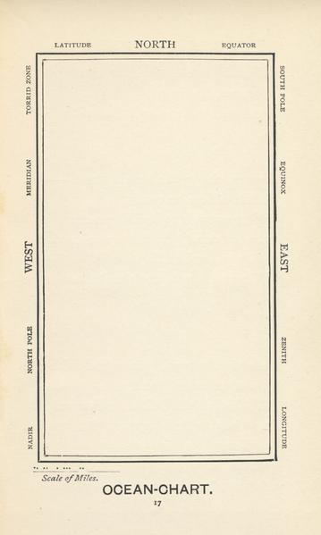מפת האוקיינוס, מתוך ציד הסנרק של לואיס קרול. אייר הנרי הולידי.