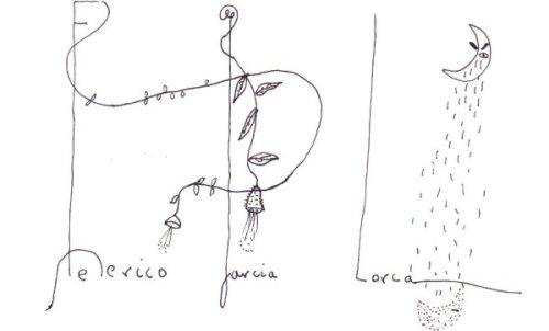 אוטוגרף של פדריקו גרסיה לורקה