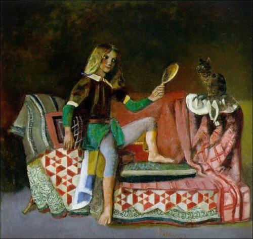 בלתוס, נערה וחתול בהשראת הגבירה והחד קרן