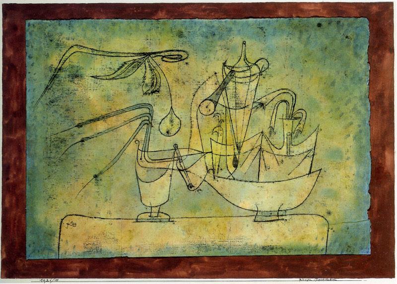 פול קליי, מכונה לזיקוק אגסים, 1921