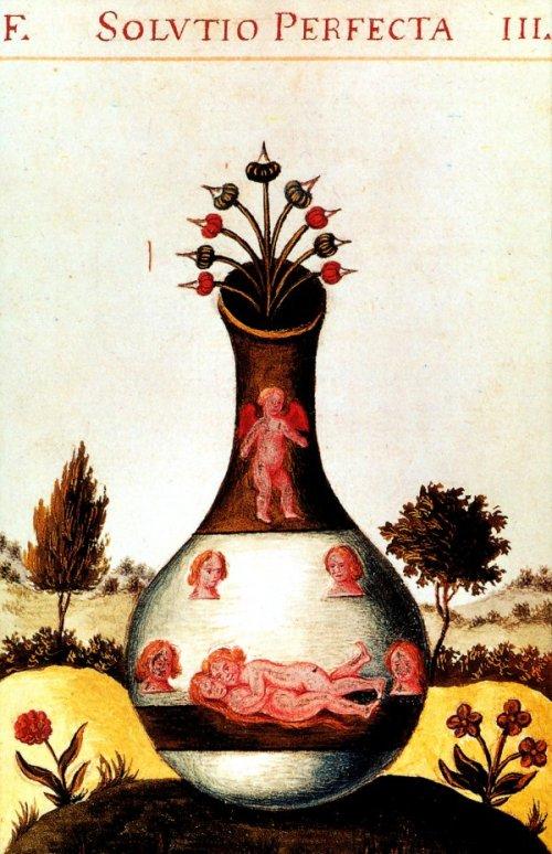 ציור אלכימי מן המאה החמש עשרה.