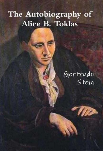 """""""האוטוביוגרפיה של אליס ב. טוקלאס"""", על הכריכה מופיע פורטרט של גרטרוד שטיין שצייר פיקסו ב1906 קצת לפני שהכירה את טוקלאס, ומסגיר את התעלול."""