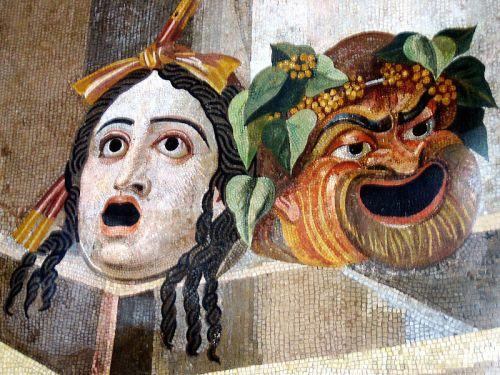 מסכות תיאטרון, מוזיאקה רומית