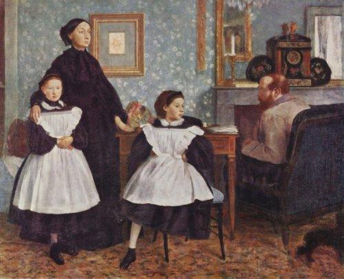 אדגר דגה דיוקן משפחת בללי, 1862