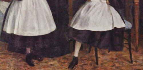 אדגר דגה דיוקן משפחת בללי, 1862 (פרט)