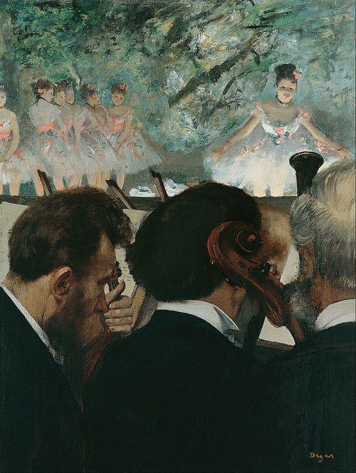 אדגר דגה, נגני התזמורת, 1872