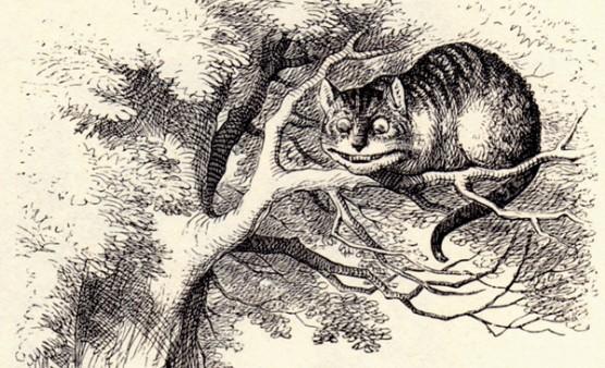 חתול צ'שייר מרובה שיניים, מתוך אליס בארץ הפלאות, אייר ג'ון טנייל